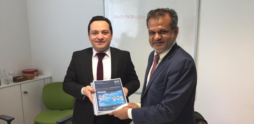 Visit of HE Khalifzoda, Ambassador of Tajikistan to UK, in Cambridge with Dr Saxena