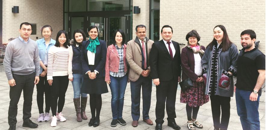 Visit of HE Khalifzoda (Ambassador of the Tajikistan to the UK) to University of Cambridge