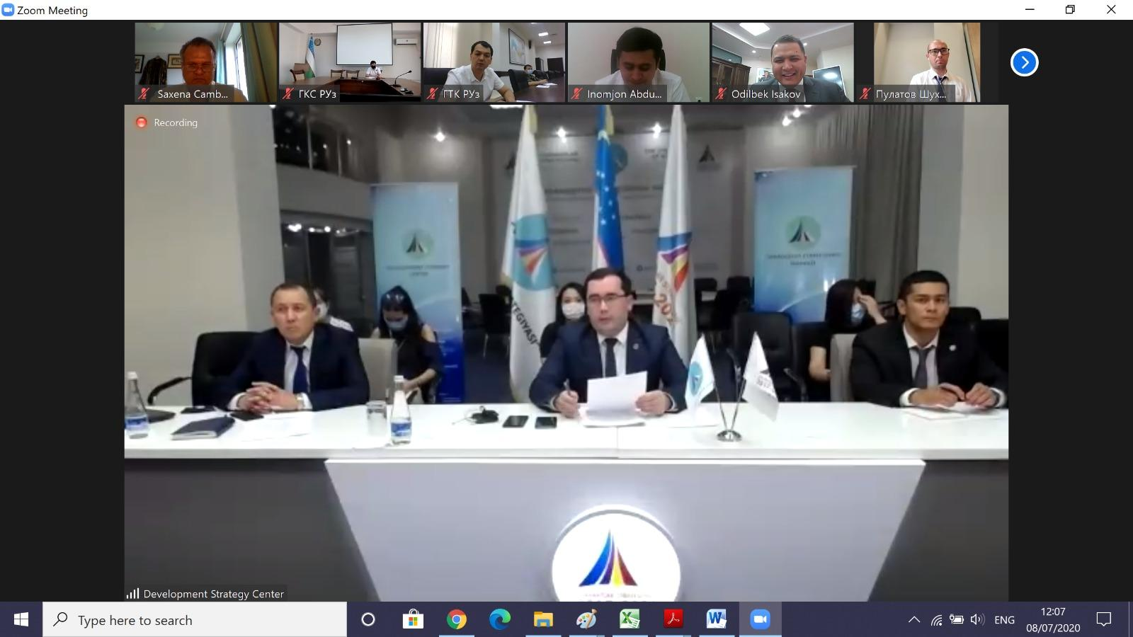 Dr Saxena participated in an online discussion on 'Reforms in the Investment Environment of Uzbekistan'